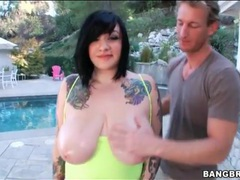 Chubby tattooed girl models huge tits outdoors movies at find-best-videos.com