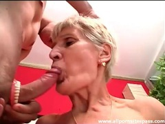 Granny takes out dentures to suck on cock movies at sgirls.net