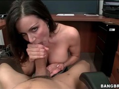 Pov blowjob in the office from a milf movies at kilotop.com