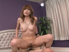 Sucking cock is a hot japanese girl with natural tits videos