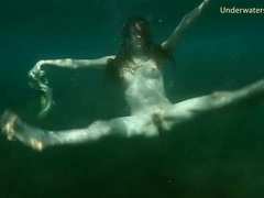 Redhead skinny dipping in the ocean movies