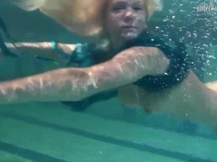 Blonde is a great swimmer with nice tits videos