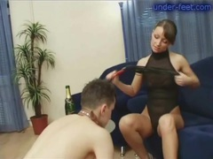 Gorgeous mistress has fun abusing a sub videos