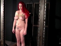 Redhead tied up and looking sexy videos