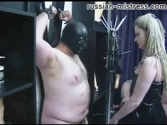 Mistress in latex tempts bound fat guy movies at sgirls.net