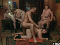 Anal sex in a bbw orgy video videos