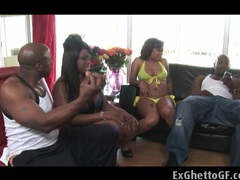 Two black couples fucking each other videos