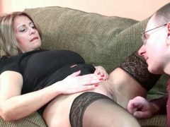 Curvy milf in stockings needs her pussy licked videos