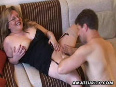 Busty amateur milf sucks and fucks with cum on tits movies at sgirls.net