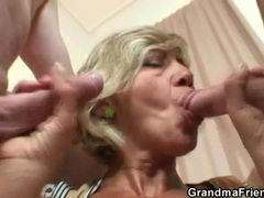 Slender sexy old lady hardcore threesome scene videos
