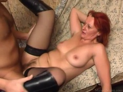 In boots and stockings she takes dick in the cunt movies at find-best-mature.com