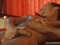 Doing the erotic own penis massage videos