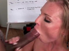 Interracial big cock blowjob and a facial movies