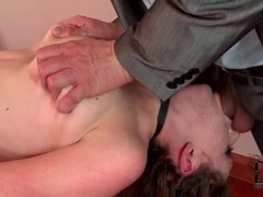 Tied and collared girl face fucked videos