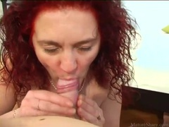 Mature redhead sucks dick sensually movies at lingerie-mania.com