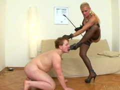 Dominatrix abuses sub guy in so many ways videos