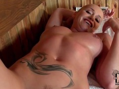 Blonde sucks cock in the sauna movies at find-best-mature.com