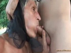 Old lady bent over and screwed in the hot hole videos