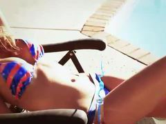 Her patriotic bikini is a thing of beauty videos