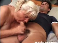 Thick dick for slutty old lady to suck on movies at sgirls.net