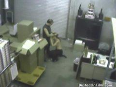 Slut sucks cock in the warehouse videos