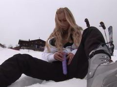 Eroberlin hot russian anna safina blond long hairy chick public skiing movies at lingerie-mania.com