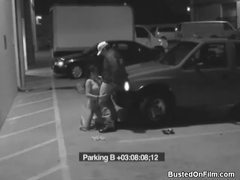 Security guard blown by slut in parking lot movies at lingerie-mania.com