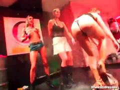 Cumshots flying at a sexy club party videos