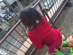 Hot asian outdoor blowjob here videos