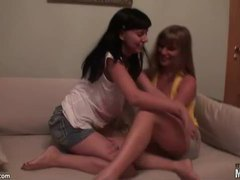 Playful teens strip in homemade video movies at find-best-mature.com