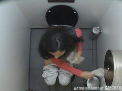 First hidden cam in toilets worldwide videos