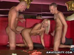 Amateur girlfriend double penetration in a swingers club movies at sgirls.net