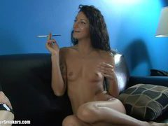 Leggy latina milf with tiny tits having a nice smoke videos