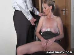 Naughty amateur milf sucks and fucks with cumshot videos