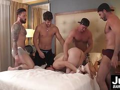 Group of hot muscle dudes plow hard tied up guys asshole movies