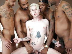 Black guys sharing a white boi's ass movies at dailyadult.info