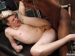 White emo guy gets nailed by a black man movies
