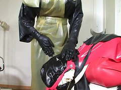 Bizarre rubber apron bondage 4 of 5 videos