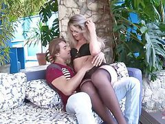 Ts blond small tits big cock fucking and get fucked by muscg movies at freekilomovies.com