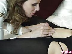 Glam lesbian trans assfucking in stockings movies at find-best-lingerie.com