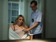 Detective chad diamond interrogates ts aspen brooks movies at adspics.com