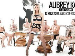Glamorous ts aubrey kate gangbanged by 6 guys tubes