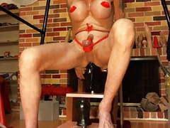 Bobbie using huge dildo 1 movies at find-best-lingerie.com