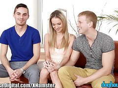 Doghouse bisexual couple's first guy movies at freekiloporn.com