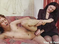 Bend over and let mommy give you a prostate massage clip