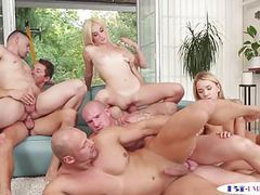 Bisexual hunks assfucking in group videos