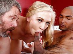Kara stone enjoys interracial sex in front of her cuckold movies