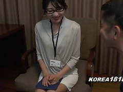 Korean office lady is horny and fucked in japan jav movies