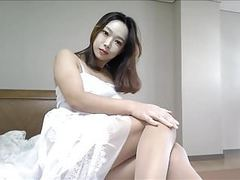 Korean girl caressing her legs for my request :) tubes