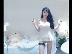 Angela sexy korean girl dancing in white movies at freekiloporn.com